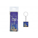 Keychain Cologne made of metal blue (W / H / D) 4x