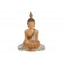 Buddha seduta in poli beige (L / A / P) 46x35x48 c