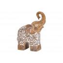 Poly beige elephant (W / H / D) 8x25x19cm