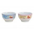 Miska Coffee Design z porcelany Niebiesko-biała 2-
