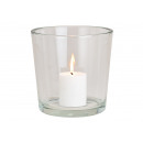 groothandel Kaarsen & standaards: Windlicht helder gemaakt van glas transparant (W /