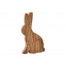 Coniglio in legno con corteccia marrone (L / A / P