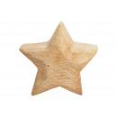 Stella di legno marrone (L / A / P) 20x20x6 cm