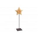 Csillag fém / fa alapon fekete / barna (W / H / D