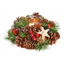 Lantern Christmas wreath, 1 lantern made of glass,