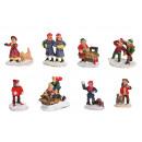 Miniatűr karácsonyi figurák többszínű nyolcszor