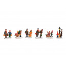 Miniatűr karácsonyi figurák, pár, csoport készült