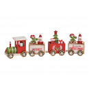 Christmas train made of wood colored (W / H / D) 2