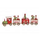 Trenino natalizio in legno colorato (L / A / P) 28