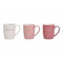 Tazza HOME realizzata in porcellana rosa / rosa, b
