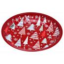 piatti Albero di Natale in metallo rosso (L / H /