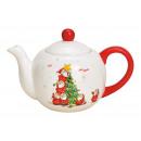 Teiera Nikolaus con albero di Natale in ceramica b