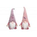 Gnomo tessile rosa / rosa 2- volte assortito , (B