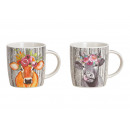 wholesale Cups & Mugs: Mug cow decor made of porcelain colored, gold doub