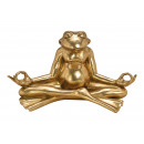 Yoga frog made of poly gold (W / H / D) 47x25x26cm