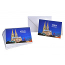 nagyker Üdvözlőkártyák: Köln képeslap papírból / kartonból kék (m / ...