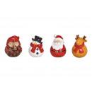 Mikołaj, bałwanek, sowa, łoś wykonane z ceramiki b