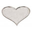 piatti a forma di cuore in alluminio argento (L /
