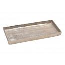 Vassoio in alluminio argento (L / A / P) 31x2x14 c