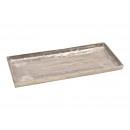 Vassoio in alluminio argento (L / A / P) 45x2x19 c