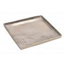 Vassoio in alluminio argento (L / A / P) 30x2x30 c