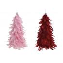 Appendiabiti Albero di Natale in piuma, plastica B