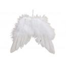 hurtownia Artykuly drogeryjne & kosmetyki: Wiszące skrzydła z piór białe (S / W / D) 16x15x1c