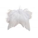 hurtownia Artykuly drogeryjne & kosmetyki: Wiszące skrzydła z piór białe (S / W) 10x10cm