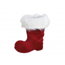 Stivale di Babbo Natale floccato di plastica Borde