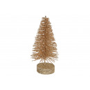 Christmas tree with glitter made of plastic gold (