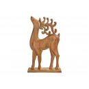 Cervo in legno di mango marrone (L / A / P) 38x60x