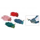 Páva klippel műanyagból, toll többszínű, négyszere