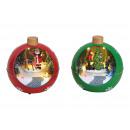 Carillon Palla di Natale con luce, in movimento. p