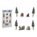 Set di personaggi in miniatura, albero 5-14 cm H i