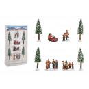 Set figure in miniatura, albero 4-14 cm H in plast
