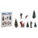 Set figure in miniatura, albero 5-10 cm H in plast