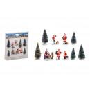Set di miniature Nicholas, albero 5-10 cm H in pla