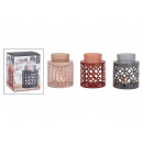 wholesale Fragrance Lamps: Scented lamp made of metal, glass pink, brown, gra