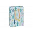 Sacchetto regalo decorazione foresta invernale in