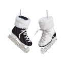 wholesale Sports and Fitness Equipment: Suspended ice skates made of plastic black, white