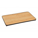 Serving board made of bamboo, natural metal (W / H