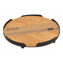 Serving board made of bamboo, natural metal Ø18cm