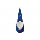Gnomo tessile blu (L / H / P) 18x50x18cm
