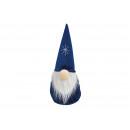 Gnomo in tessuto blu (L / H / P) 13x30x13cm