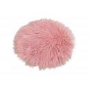 Poduszka na siedzisko ze sztucznego futra różowy /