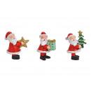Babbo Natale in poli rosso 3- volte assortito , (L