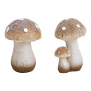 Brown clay mushroom with glitter 2- times assorted