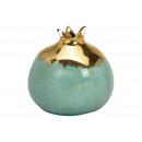 Vaso di melograno in ceramica verde, oro (L / A /