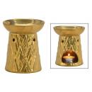 groothandel Huisgeuren/parfums: Geurlamp van keramiek goud (B / H / D) 10x12x10cm
