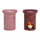 wholesale Fragrance Lamps: Fragrance lamp made of ceramic Bordeaux, pink, 2-p